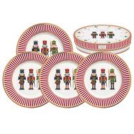 Easy Life (R2S) Набор из 4-х десертных тарелок Щелкунчик 19см, фарфор - арт.EL-R1100_NUTC, фото 1