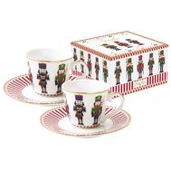 Easy Life (R2S) Набор: 2 чашки с блюдцем для кофе Щелкунчик 0.08л, фарфор - арт.EL-R1107_NUTC, фото 1