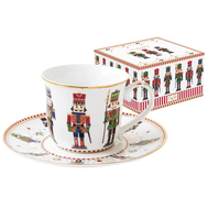 Easy Life (R2S) Чашка с блюдцем Щелкунчик 0.2л, фарфор - арт.EL-R1106_NUTC, фото 1