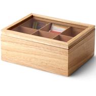 Ящик для хранения чайных пакетиков Continenta, цвет натуральный 23*17,5*10 см - арт.013.050400.001, фото 1