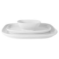 Набор сервировочный Форма Maxwell & Williams, белый: 2 тарелки + салатник, 23.5см + 28см +12см, фарфор - арт.MW655-AW0393, фото 1