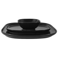 Набор сервировочный Форма Maxwell & Williams, чёрный: 2 тарелки + салатник, 23.5см + 28см + 12см, фарфор - арт.MW655-AW0406, фото 1