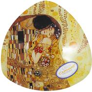 Carmani Тарелка треугольная Поцелуй (Г.Климт) 17х17см, стекло - арт.CAR198-1132, фото 1