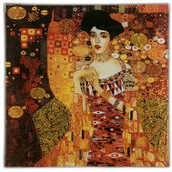 Carmani Блюдце для украшений Золотая Адель (Г.Климт) 13х13 см, стекло - арт.CAR198-1402-AL, фото 1