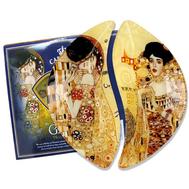 Carmani Набор из 2-х тарелок Поцелуй/Адель (Г. Климт) 21,5х12 см, стекло - арт.CAR198-7022-AL, фото 1