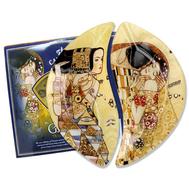 Carmani Набор из 2-х тарелок Ожидание/Поцелуй (Г.Климт) 21,5х12 см, стекло - арт.CAR198-7023-AL, фото 1