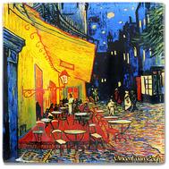 Carmani Блюдце для украшений Ночная терраса кафе (Ван Гог) 13х13 см, стекло - арт.CAR198-7309, фото 1