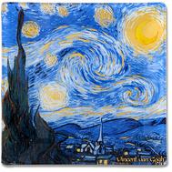 Carmani Блюдце для украшений Звездная ночь (Ван Гог) 13х13 см, стекло - арт.CAR198-7310, фото 1