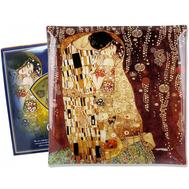 Carmani Тарелка квадратная Поцелуй (Г.Климт) 25х25 см, стекло - арт.CAR198-8011, фото 1