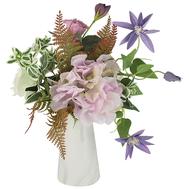 Dream Garden Декоративный букет клематисы сиреневые и гортензии в керамической вазе - арт.DG-B1703, фото 1