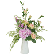 Dream Garden Декоративный букет розы и гортензии в керамической вазе - арт.DG-B1708, фото 1