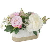Dream Garden Декоративные цветы Пион и гортензии в керамической вазе - арт.DG-J7214, фото 1