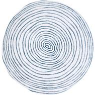 Easy Life (R2S) Тарелка обеденная (синий с белыми полосками) Бриз 26.5см, фарфор - арт.EL-R2400_BRZE, фото 1