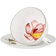 Anna Lafarg Emily Чашка с блюдцем Magnolia 0.25л, костяной фарфор - арт.AL-703M-E11, фото 1