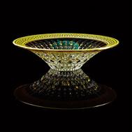 Ваза для фруктов Migliore DeLuxe Imperia, хрусталь, декор золото 24К, 36см - арт.25539, фото 1