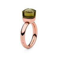 Qudo Кольцо Firenze olivine 17.2 мм, фото 1