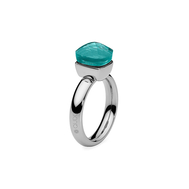 Qudo Кольцо Firenze blue apatite 17.2 мм, фото 1