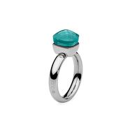 Qudo Кольцо Firenze blue apatite 18.4 мм, фото 1