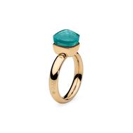 Qudo Кольцо Firenze blue apatite 17.8 мм, фото 1