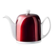 Чайник фарфоровый Guy Degrenne Salam, с ситечком, белый с красной крышкой, 1л - арт.238934, фото 1