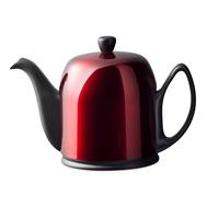 Чайник фарфоровый Guy Degrenne Salam, с ситечком, черный с красной крышкой, 1л - арт.238935, фото 1