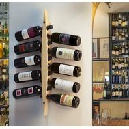Подставка на стену для бутылок вина Legnoart Enoteca темное дерево, 75х5см - арт.AW-BS-1, фото 1