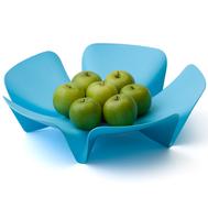 Ваза для фруктов Qualy Flower, голубая, 30см - арт.QL10041-BU, фото 1