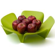 Ваза для фруктов Qualy Flower, зеленая, 30см - арт.QL10041-GN, фото 1