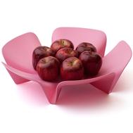 Ваза для фруктов Qualy Flower, розовая, 30см - арт.QL10041-PK, фото 1