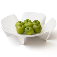 Ваза для фруктов Qualy Flower, белая, 30см - арт.QL10041-WH, фото 1