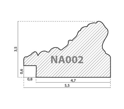 Деревянный багет NA002.1.002, ш: 5.5см в: 3.5см, фото 2