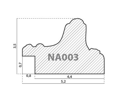 Деревянный багет NA003.1.121, ш: 5.2см в: 3.5см, фото 2