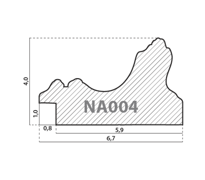 Деревянный багет NA004.1.007, ш: 6.7см в: 4см, фото 2