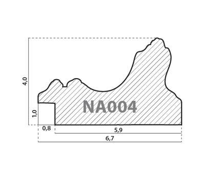 Деревянный багет NA004.1.009, ш: 6.7см в: 4см, фото 2