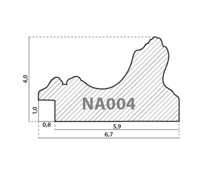 Деревянный багет NA004.1.010, ш: 6.7см в: 4см, фото 2