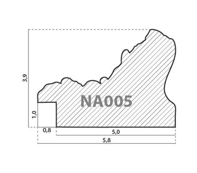 Деревянный багет NA005.1.081, ш: 5.7см в: 4см, фото 2