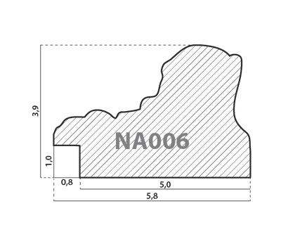 Деревянный багет NA006.1.016, ш: 5.8см в: 3.9см, фото 2