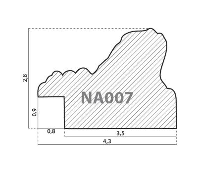 Деревянный багет NA007.1.018, ш: 4.3см в: 2.8см, фото 2