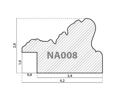 Деревянный багет NA008.2.134, ш: 4.2см в: 2.8см, фото 2