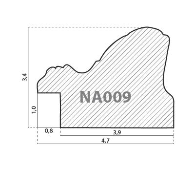 Деревянный багет NA009.1.022, ш: 4.7см в: 3.4см, фото 2