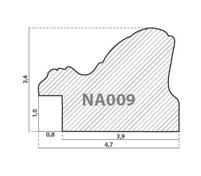 Деревянный багет NA009.1.169, ш: 4.7см в: 3.4см, фото 2