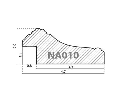 Деревянный багет NA010.1.025, ш: 4.7см в: 2см, фото 2