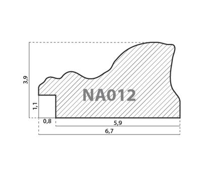 Деревянный багет NA012.1.033, ш: 6.7см в: 3.9см, фото 2