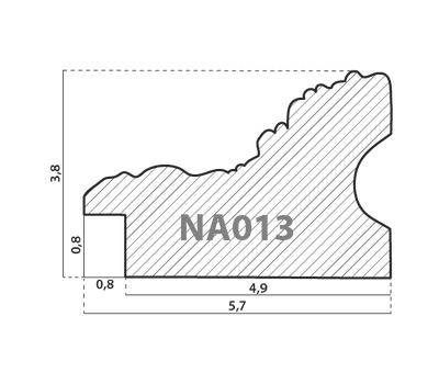 Деревянный багет NA013.1.036, ш: 5,7см в: 3.8см, фото 2