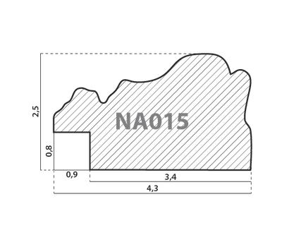 Деревянный багет NA015.1.042, ш: 4.3см в: 2.5см, фото 2