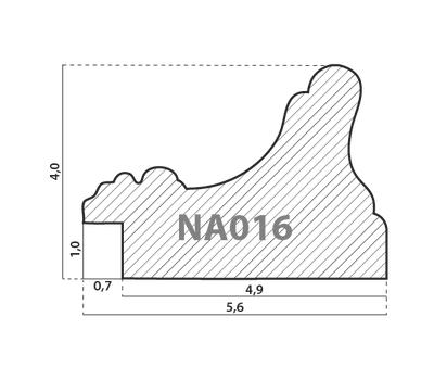 Деревянный багет NA016.1.050, ш: 5.6см в: 4см, фото 2