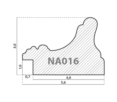 Деревянный багет NA016.1.051, ш: 5.6см в: 4см, фото 2
