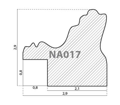 Деревянный багет NA017.1.141, ш: 2.9см в: 2.9см, фото 2