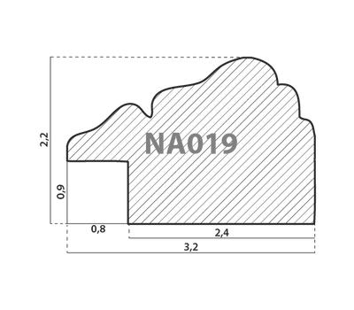 Деревянный багет NA019.1.090, ш: 3.2см в: 2.2см, фото 2