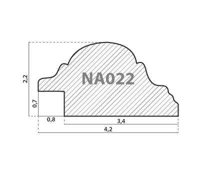 Деревянный багет NA022.0.044, ш: 4.2см в: 2.2см, фото 2